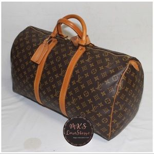 LOUIS VUITTON KEEPALL 50 IN MONO VGUC VINTAGE